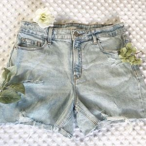 Old Navy High-rise Distressed Shorts